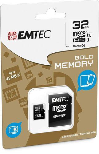 TARJETA MEM  EMTEC   MICRO SD+ADAPT 32GB