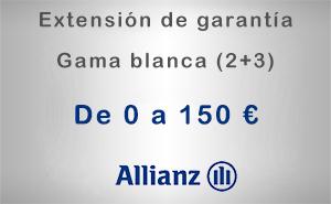 Extensión de garantía 2+3 Allianz de 0 a 150 € - Gama blanca