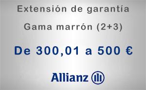 Extensión de garantía 2+3 Allianz de 300,01 a 500 € - Gama marrón