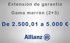 Extensión de garantía 2+3 Allianz de 2.500,01 a 5.000 € - Gama marrón